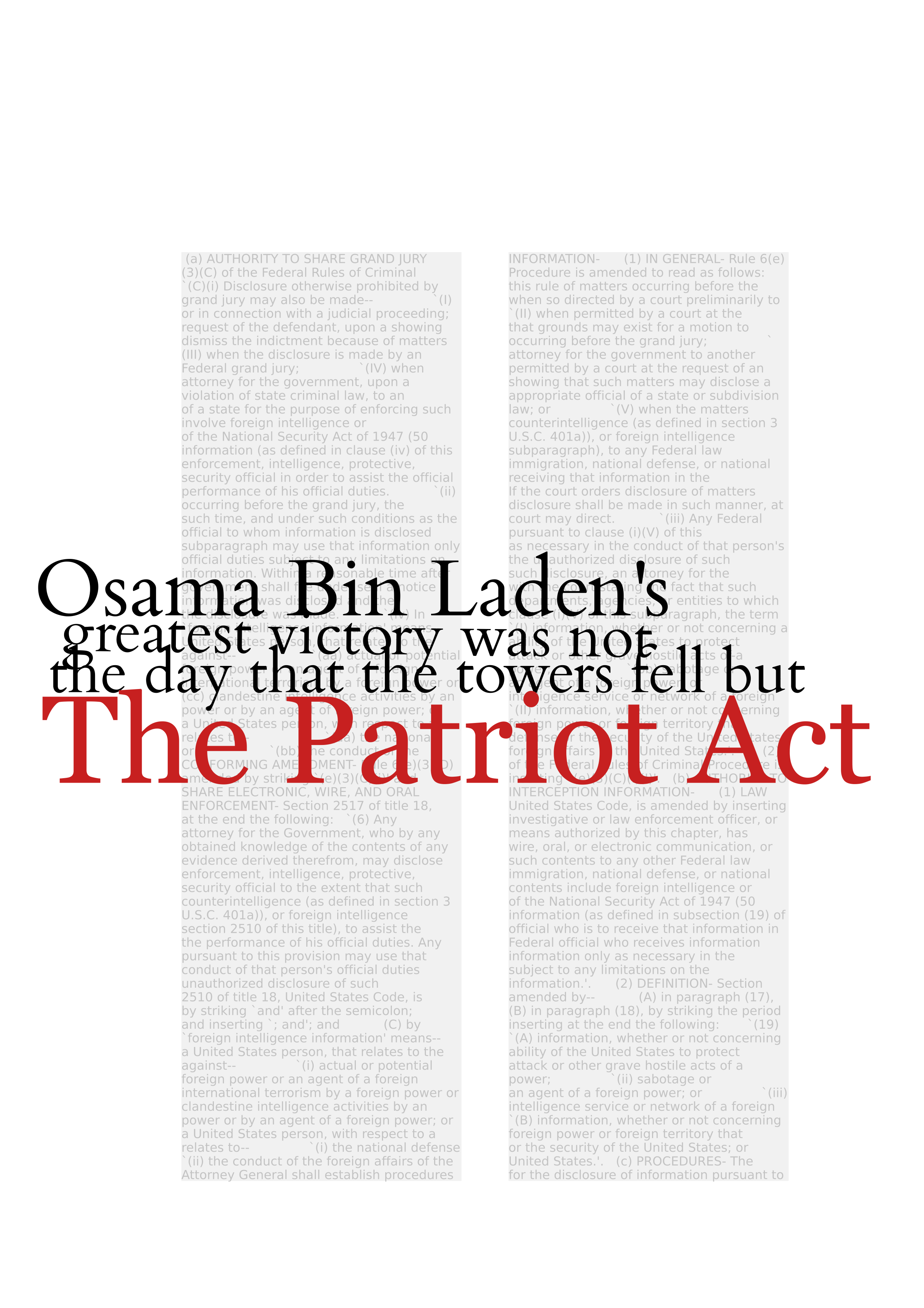 the not so patriot act essay But two other sections of the patriot act would also expire: a so-called lone wolf provision and another section that allows roving wiretaps.